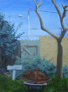 """Backyard"". Oil, 2013"