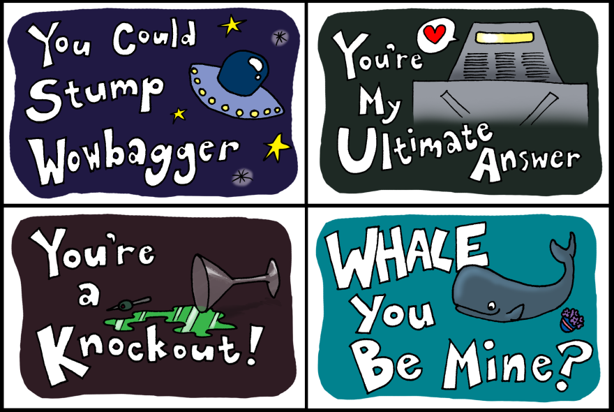 Hitchhiker's Guide Valentines!