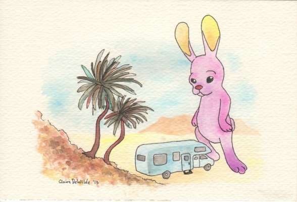 """Desert Rabbit"" Watercolor and Ink, 2013"