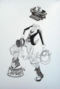 """Ringmaster"". Graphite, 2013"