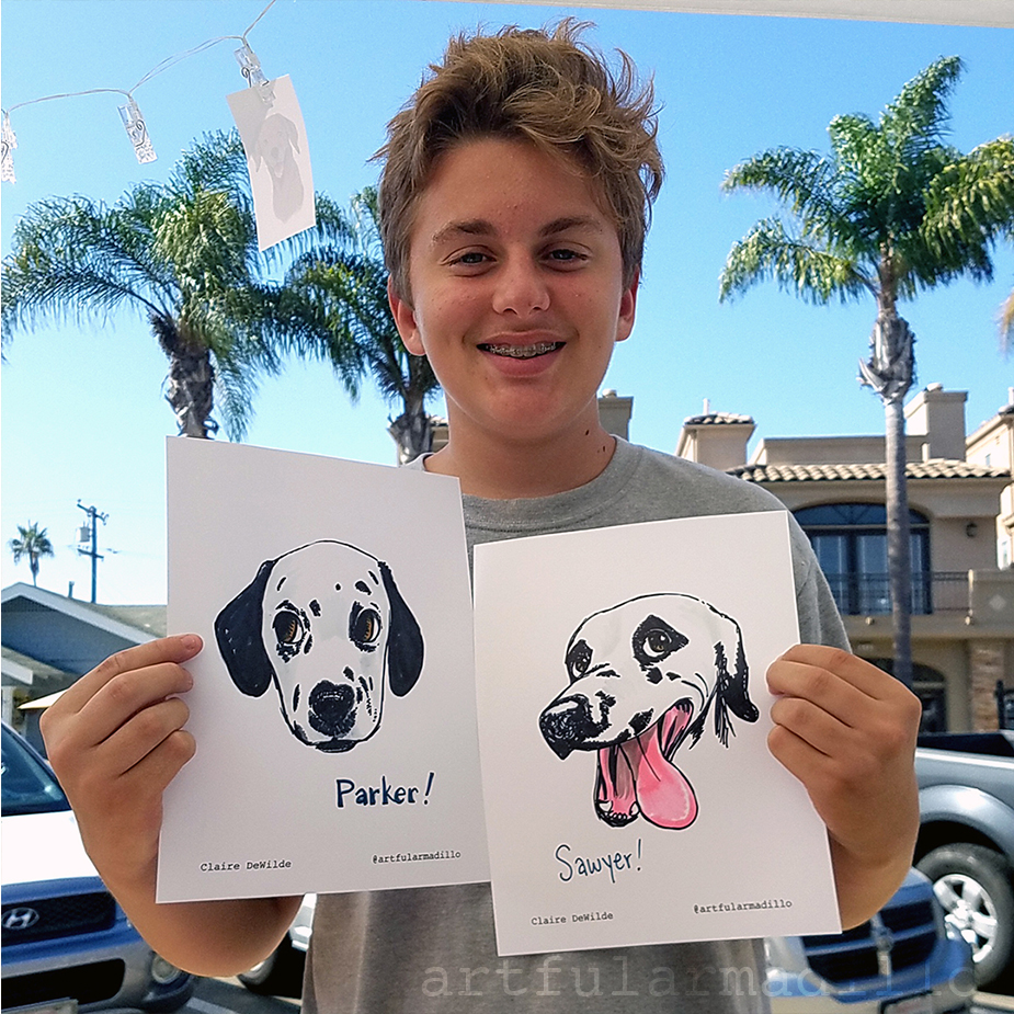 Dalmatian caricatures
